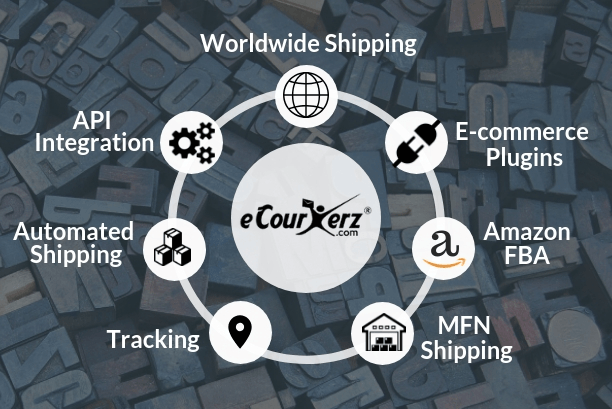 eCourierz with multiple solutions like worldwide shipping, Merchant fulfillment Network, API Integration.